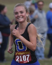 Ontario's Grace Maurer has the Lady Warriors into the regional meet with a second-place team finish at districts.