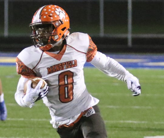 Mansfield Senior's Angelo Grose collected 101 receiving yards in the Tygers' one-point loss to Wooster.