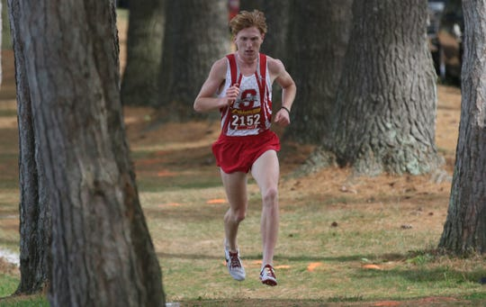 Shelby's Caleb Brown ran a 14:51 during the district cross country meet on Saturday giving him one of the top times in the nation. He finished as the individual district champ.