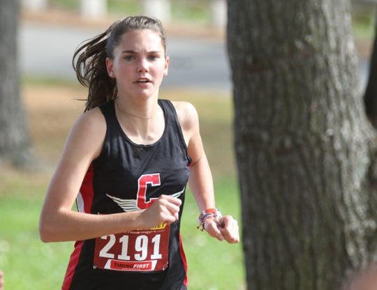Crestview's Abigail Rall was the top runner on the Lady Cougar district championship team on Saturday.
