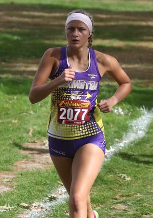 Lexington senior Tessa Gerhardt will look for her third consecutive team state title on Saturday.