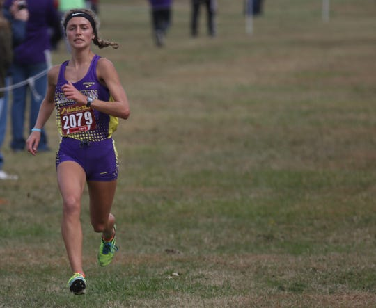 Lexington's Halle Hamilton led Lady Lex to a district cross country championship with her second-place finish.