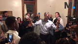 Beto O'Rourke took questions and pictures during a stop to Montgomery's Goat Haus Biergarten