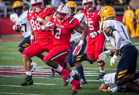 Ball State defeated Toledo during their Homecoming game at Scheumann Stadium Saturday, Oct. 19, 2019.