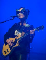 Amanda Shires performs before Jason Isbell & the 400 Unit at Ryman Auditorium on Oct. 18, 2019.