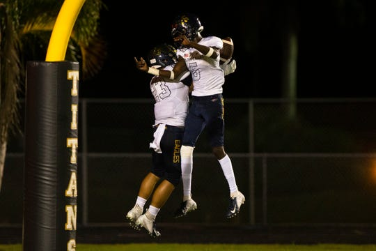 The Golden Gate High School football team hosts Naples High in Week 9 of the high school football season on Friday, Oct. 18, 2019, at Golden Gate High School. The Naples High football team won at Golden Gate, clinching its 10th straight district championship.