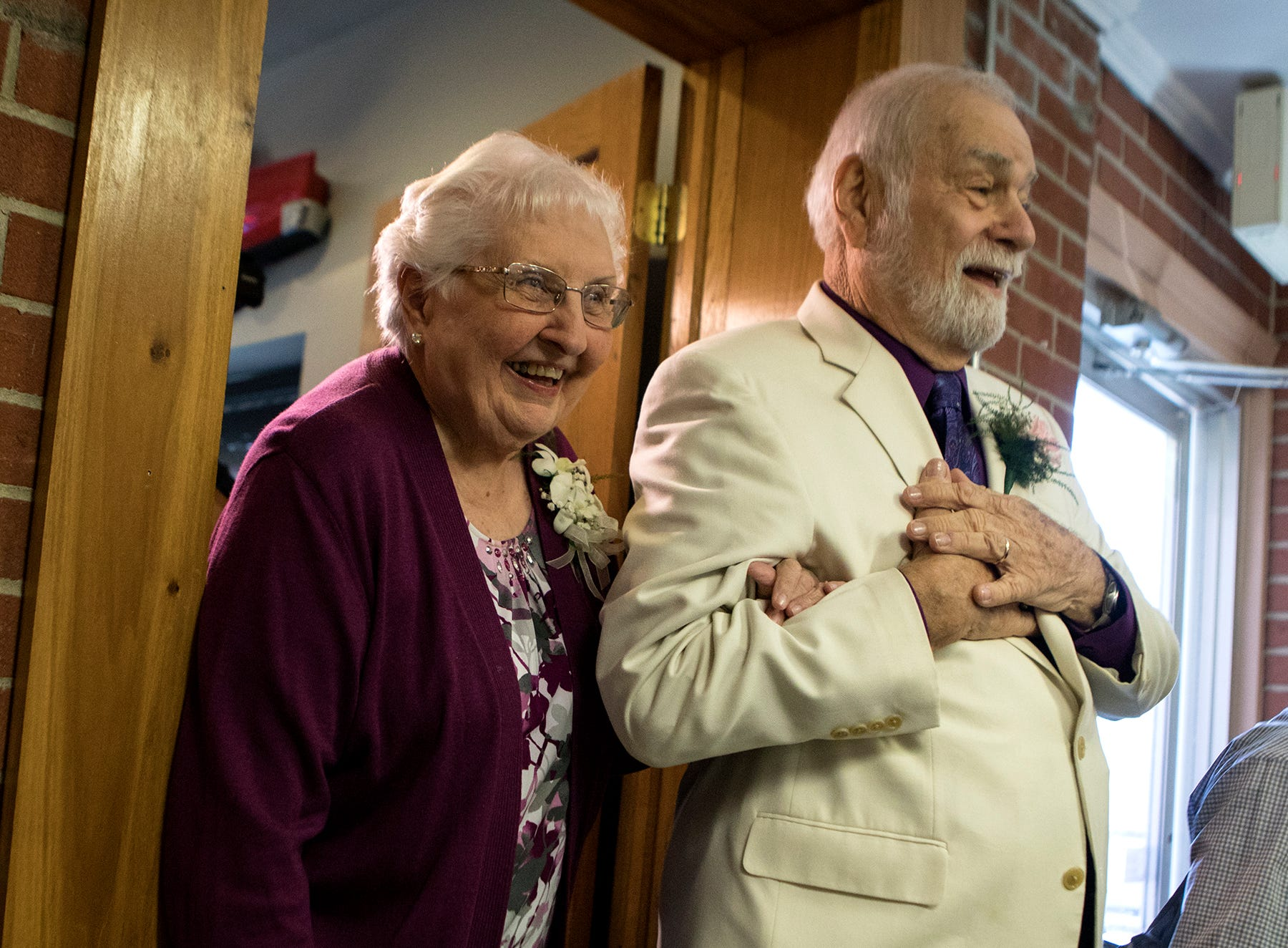 Reunited after decades apart, high school sweethearts wed at 80