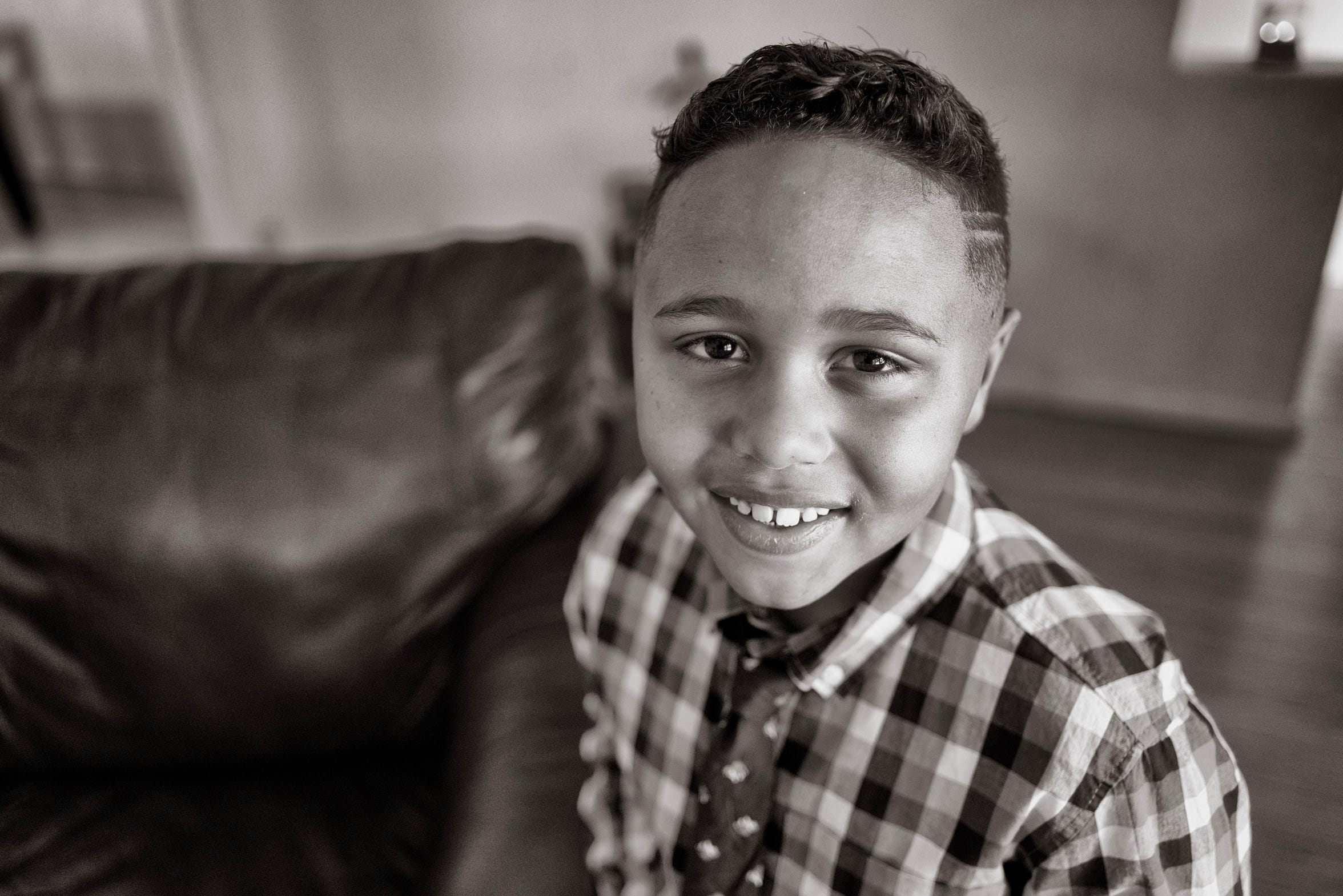 Jamari Nelson, 7, at home in Albuquerque, New Mexico.