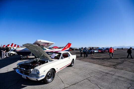 Hundreds of people visit the Wings and Wheels 'Fest at the Las Cruces Airport on Saturday, Oct. 19, 2019.
