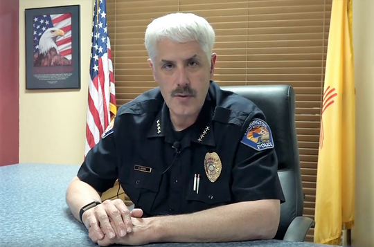 Farmington Police Chief Steve Hebbe addresses an Aug. 27 use of force incident at Mesa View Middle School in a video set to be posted on the night of Oct. 20. A Farmington school resource officer resigned following an investigation into an incident with an 11-year-old girl.