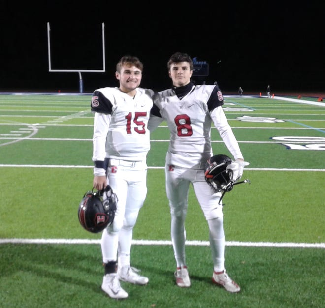 Gavin Brooks and Shane Morelli had big days in Livonia Churchill's win against Livonia Stevenson on Oct. 19.