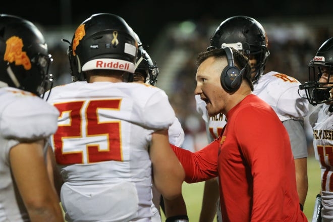 Palm Desert football coach Shane McComb is one of several area coaches waiting to get back on the field.