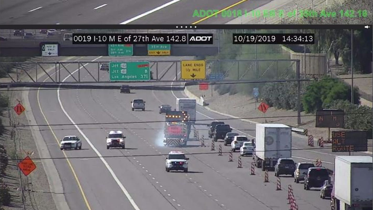 Closure on portion of westbound I-10 in West Valley reopens ahead of schedule