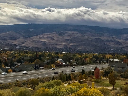 A photo of rolling clouds over the mountains near North McCarran Boulevard in Reno on Saturday, Oct. 19, 2019.