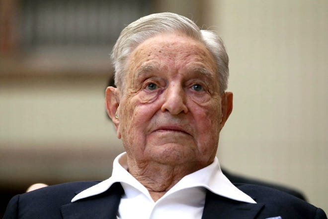 George Soros, Founder and Chairman of the Open Society Foundations, looks before the Joseph A. Schumpeter award ceremony in Vienna, Austria, Friday, June 21, 2019.