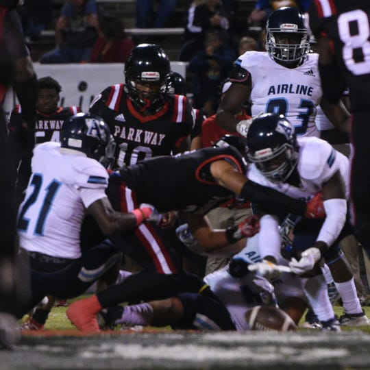 Parkway vs. Airline Friday evening October, 18, 2019.
