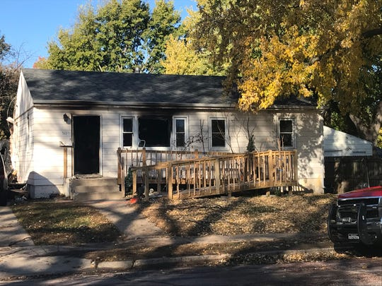 A house that caught fire Saturday morning in western Sioux Falls.