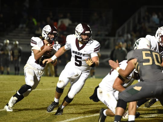 Blake Roach and Stuarts Draft will try to keep its unbeaten season alive with a matchup against Riverheads, which, like Draft, is 9-0 heading into this game.