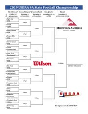 The UHSAA 4A football playoff bracket
