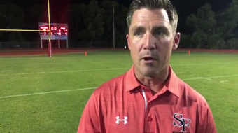 Head coach Mike Lavelle talks about the offensive explosion in Friday night's 48-7 win over West Boca Raton.