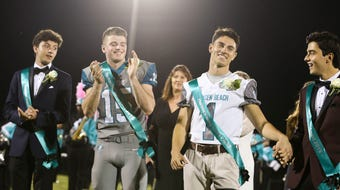 Da'quan Gonzalez had three interceptions, including one for a touchdown, and caught a scoring pass to lead Jensen Beach in their homecoming win.