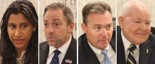 Assembly candidates in the 12th Legislative District are, from left: Malini Guha (D), David Lande (D), Rob Clifton (R, incumbent) and Ronald Dancer (R, incumbent)