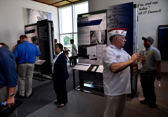 Visitors crowd the new Manila American Cemetery Visitor Center after its dedication Saturday Oct. 19, 2019.