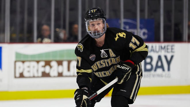 In his four-year career at Western Michigan University, Wade Allison had 45 goals and 97 points in 106 games.
