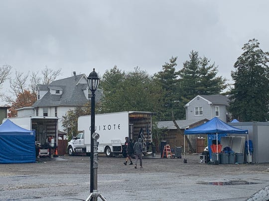 Sunday morning the parking lot of Botto's was filling up with what appeared to be TV production equipment.