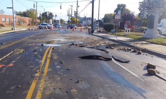 A water main break has closed Montgomery Road in Pleasant Ridge.