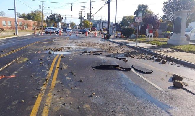 A water main break has closed Montgomery Road in Pleasant Ridge.