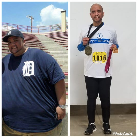 Carlos Orosco has lost 475 pounds over the last three years and completed the 42nd Annual Detroit Free Press/TCF Bank Marathon.