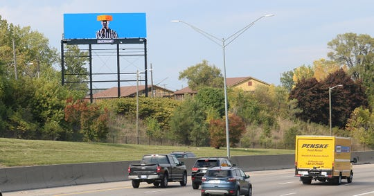 A billboard of a referee wearing a cheesehead appeared in metro Detroit after the controversial Monday night football game between the Detroit Lions and the Green Bay Packers Oct. 14, 2019.