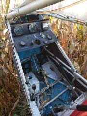 Ultra light aircraft crashed in a cornfield in Johnson County Sunday Oct. 20, 2019. No injuries were reported.