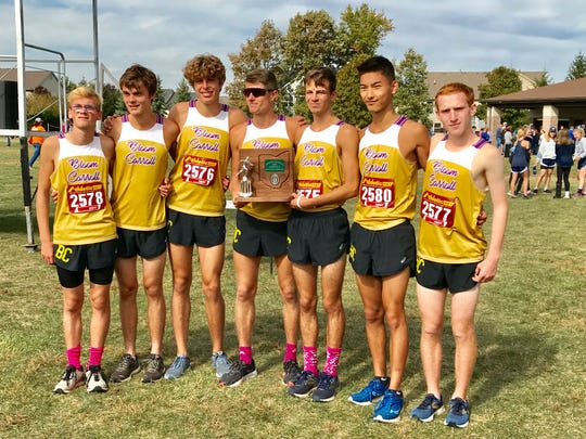 The Bloom-Carroll boys' cross country team finished as Central District Division II runner-up during Saturday's district cross country meet at Hilliard Darby High School.