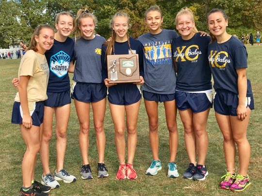 The Lancaster girls' cross country team finished as Central District Division I runner-up during Saturday's district cross country meet at Hilliard Darby High School.