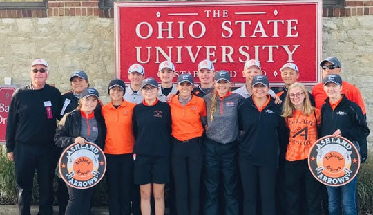Ashland High School qualified its boys and girls teams for the Division I state golf tournament. The girls finished sixth and the boys, who didn't have a senior in the lineup, finished 11th.