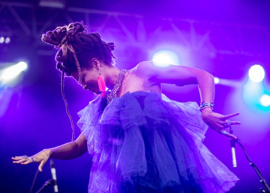 Valerie June performs during the third annual Mempho Music Fest at Shelby Farms Park in Memphis, TN Sunday, Oct. 20, 2019.
