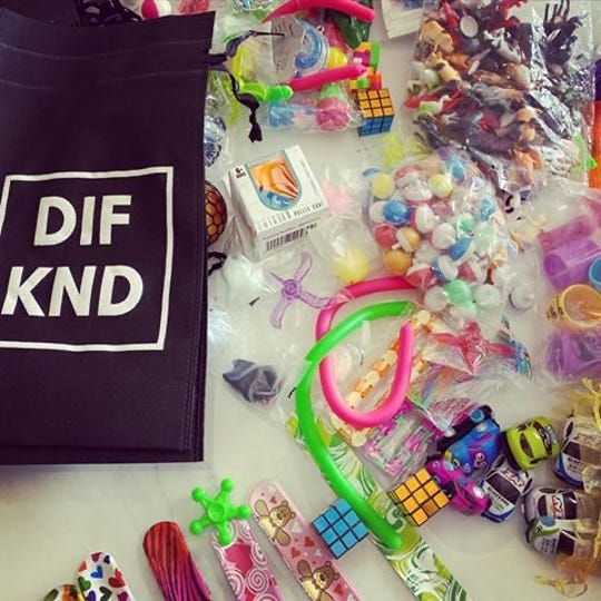 Jenna Kloeckner of Menomonee Falls started the online business DIF KND, which sells merchandise to support autism awareness. For every order, she donates a sensory bag to a community public establishment in the ZIP code where the customer lives.