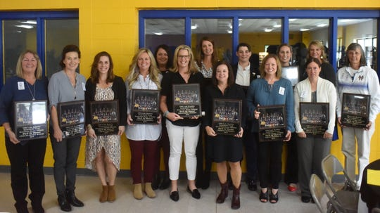 The 1993-94 Mountain Home Lady Bomber basketball team was inducted into the MHHS Athletic Hall of Honor, 25 years after their state runner-up finish in an eight-overtime loss to Fayetteville.