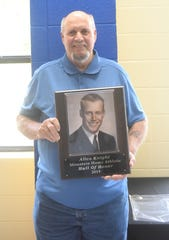 Allen Knight, an all-state member of the 1966 state championship basketball team, was inducted into the MHHS Athletic Hall of Honor on Saturday.