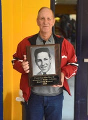 Tommy Studdard, all-state in football and baseball and a graduate of the Class of 1957, was inducted into the MHHS Athletic Hall of Honor on Saturday.