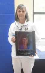 Brenda Yancey, junior girls' coach at MHJH for 33 years, was inducted into the MHHS Athletic Hall of Honor on Saturday.