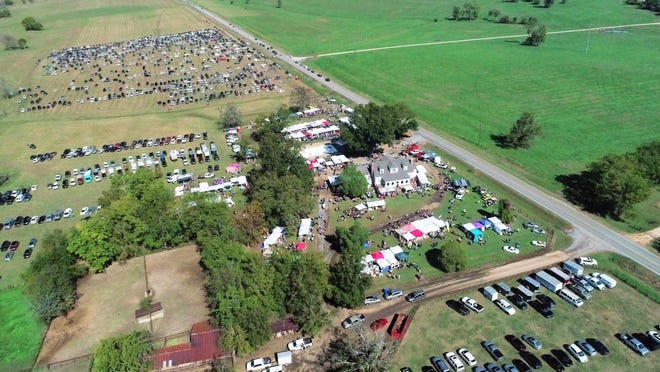 A drone provides an aerial image of a bustling Pike Road Arts & Crafts Fair. The Nov. 2 Fair begins at 9 a.m. and concludes at 4 p.m.