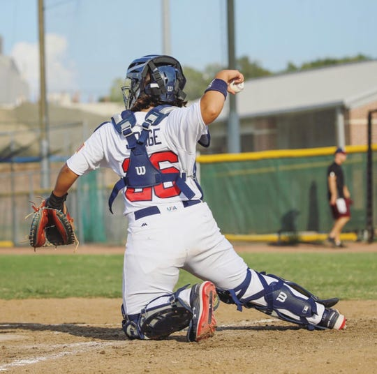 Alexia Jorge, 16, during a baseball game with the U.S. Women's National Team.