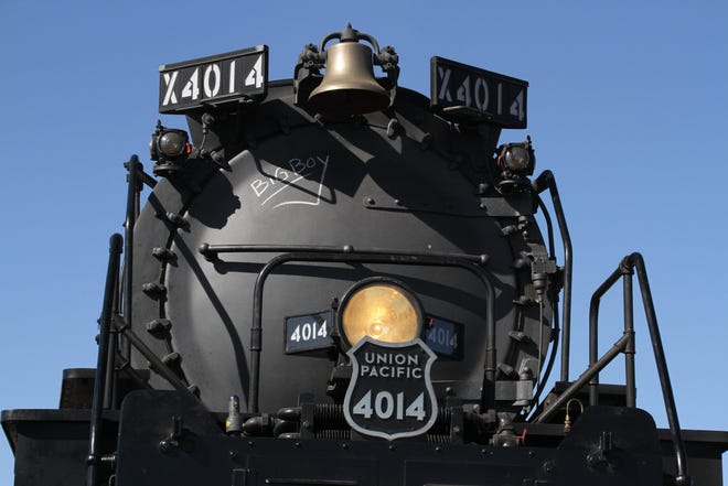 The face of Union Pacific's Big Boy No. 4014.
