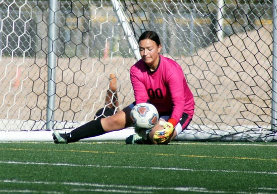 Junior Lady 'Cat goal keeper Palmira Valentine stopped 24 shots on Saturday.