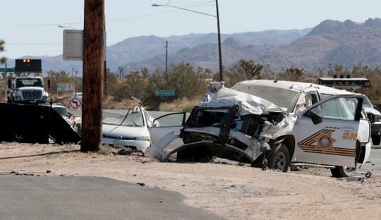 1 dead, 2 injured, including a San Bernardino sheriff's deputy, in Highway 62 crash
