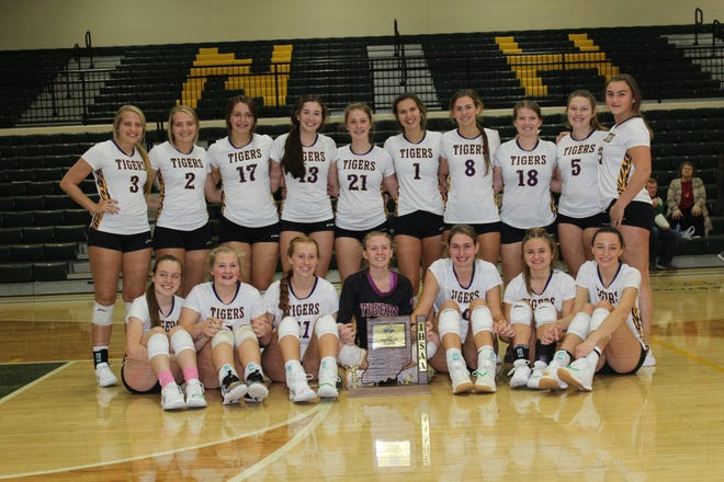 Hagerstown volleyball wins its fourth consecutive sectional championship after a sweep of Knightstown on Saturday at Northeastern High School.