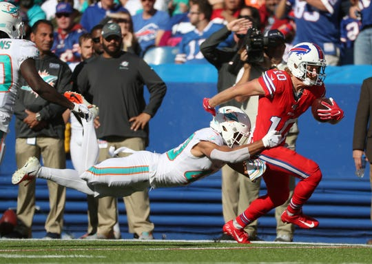 Bills receiver Cole Beasley caught three passes including a touchdown.
